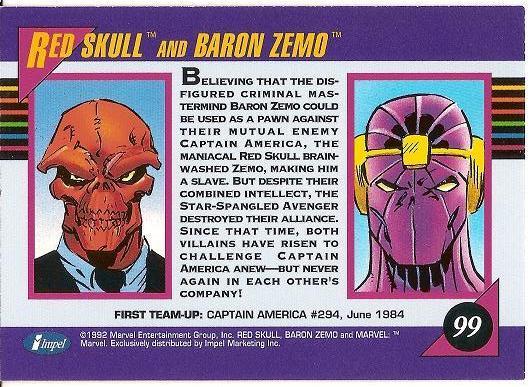 Red Skull Baron Zemo