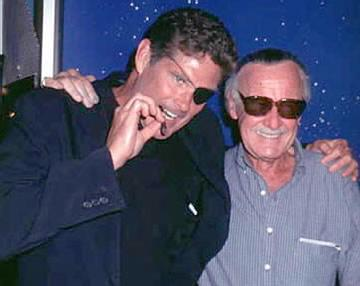 David Hassellhoff with Stan Lee